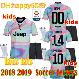 2018 2019 EA Sports juventus soccer Jersey RONALDO DYBALA HIGUAIN MANDZUKIC  MARCHISIO da calcio BUFFON Home football KIDS KIT shirt uniform 115d156fa