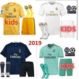 2019 Mens real Madrid kids HAZARD JOVIC MILITAO camiseta de fútbol 2020 ASENSIO football shirt camisa de futebol kids soccer jersey 19 20
