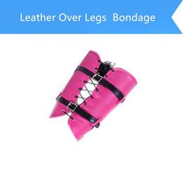 BDSM Bondage Restraint PU Leather Bound Leg Straps Ankle Foot Harness Slave Leg Cuff Binder Adults Sex Toys For Woman