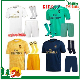19 20 madrid kids boy kit Soccer Jersey HAZARD JOVIC Benzema ASENSIO football Modric Kroos Sergio Ramos Bale Marcelo 2019 2020 Real shirts