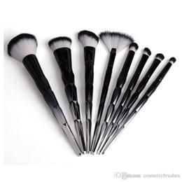 Mybasy 8pcs set Diamond Makeup Brushes Black handle Facial Foundation Contour Blusher Eyeshadow Eyebrow Cosmetis Makeup Brushes Tool Kit