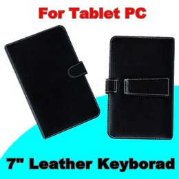 SHa 2018 Optional Universal keyboard Micro USB Flip Protective Cover Tablet Leather Case For HP Slate 7 7inch Case A-JP