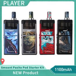 100% Original Smoant Pasito Pod Starter Kit 1100mAh Battery 25W Vape Box Mod With 3ml Pods Cartridge Genuine