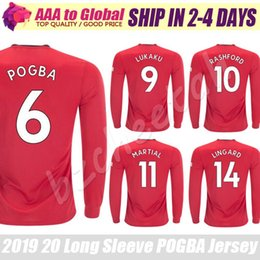 POGBA Long Sleeve jersey 2020 Top full Sleeve Football Jersey Martial Rashford Lingard Lukaku Long Sleeve sports wear shirts