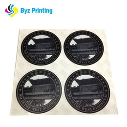 2018 New Style Promotional Wholesale Adhesive Black Circle Stickers, Waterproof Round Vinyl Sticker