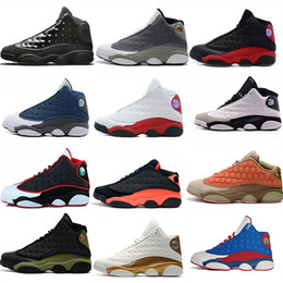 13 13s Mens Basketball Shoes Cap and Gown Phantom Chicago Royal Bred Black Cat Flints Brown Wheat DMP Atmosphere Grey womens sports sneakers