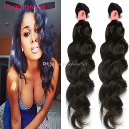 Glamorous Brazilian Hair Weave Natural Wave 100% Unprocessed Brazilian Virgin Hair 2 Bundles Peruvian Malaysian Indian Human Hair Extensions