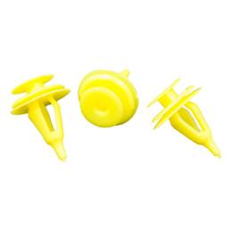 NO.2 Auotmotive Trim Panel Fastener Clips Buckle Yellow For Toyota Pickup Truck Door Snap Retaining Rivet