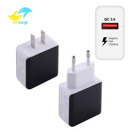 QC 3.0 USB Quick Phone Charger Travel Wall Adapter 18W QC3.0 FCP Universal For Xiaomi iPhone Samsung Huawei EU Plug
