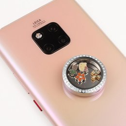 New Stick Floating Locket for Cellphone 30mm Stainless Steel Silver Living Lockets Memory Stone Charms Storage Box
