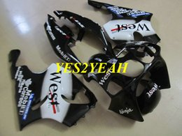 White black Fairing body kit for KAWASAKI Ninja ZX-7R ZX7R 1996 2003 Bodywork ZX 7R 96 97 02 03 Fairings set+gifts KU23
