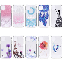 Flower Butterfly Marble Tower Soft TPU Case For Iphone 11 2019 XS XR MAX X 10 8 7 SE 5S 6 Note 10 9 Henna Paisley Lady Dreamcatcher Cover