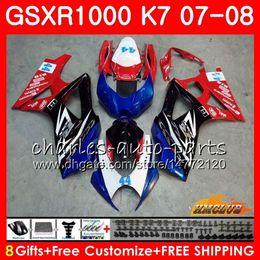 FairingForSUZUKIGSXR1000GSX-R1000K7GSXR-10000708Bodywork12HC.79GSXR1000GSXR1000070820072008Fullnew red blue hot Bodykit
