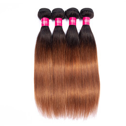 3 Bundle Deals Ombre Silky Straight Brazilian Ombre Hair 1b 30 Ombre Straight Hair Wefts Brazilian Straight Human Hair Weave