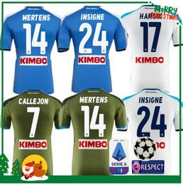 2019 2020 Serie A Naples Napoli home soccer jerseys Napoli blue football Jerseys Shirt for men 19 20 HAMSIK L.INSIGNE PLAYER Shirt