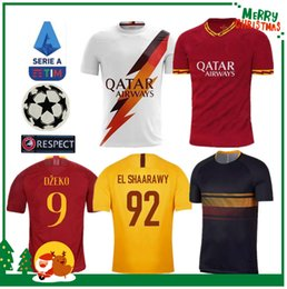 19 20 ROME home away soccer TOTTI ROMA DZEKO Sports DE ROSSI Jersey 2019 2020 EL SHAARAWY NAINGGOLAN Long sleeve Football shirt