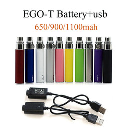 Full Ego t Battery Ego-t Batteries 510 Thread Atomizer Clearomizer Vaporizer CE4 CE5 650 900 1100mAh Vertex Battery In Stock Fast Shipping