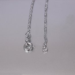 Wholesale 2015 new fashion Jewelry sterling silver cm snap bulk silver necklaces chain necklaces