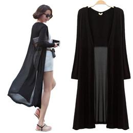 Wholesale Maxi Cardigan Feminino longueur cheville Pull Femmes Manteau en tricot à manches longues coréenne noir vintage surdimensionné Pull Robe