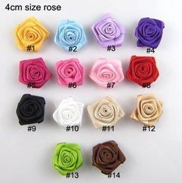 Wholesale quot Rosettes DIY rose accessories satin silk flower rosettes hair accessories