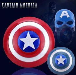 Bouclier de capitaine America Shield Avengers Bouclier de Super Heroes avec Lumière LED de son Lumière LJJE343 36PCS