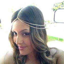 Wholesale 2015 new design hair chain gold Hair Accessories vintage bride wedding Accessories