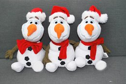 2014 new arrival Frozen Lovely OLAF the Snowman Plush Doll Stuffed Toy with Christmas hat 30cm 12 Inches cheap 12 olaf snowman plush from 12 olaf snowman plush suppliers