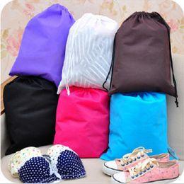 Chic não-tecidos saco de armazenamento de sapatos viagem bolsa bolsa de lavagem 6 cores à prova d'água