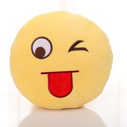 Топ продавца Диаметр 30см Подушка Симпатичные Прекрасный Emoji смайлик Подушки Мультфильм Подушка Подушки Желтый Круглый Подушка Фаршированные Плюшевые игрушки