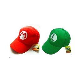 Wholesale Super Mario Bro Anime Mario Cap Cosplay New Best Gift super mario hat cotton
