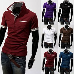 Wholesale 2016 High Quality Hot Summer Men Fashion Short Sleeve solid Polos shirts Cotton Unlined Garment colour C01