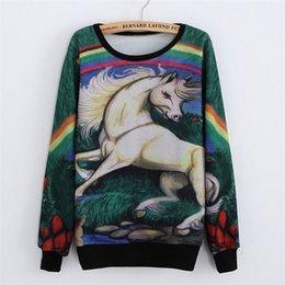 Wholesale Women D Print Sweatshirt Jogging Suits For Women Hip Hop Casual Fresh Tracksuit Mixed Color Panting Horse