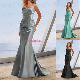 Wholesale 2015 In Stock Formal Mother of the Bride Evening Prom Dresses Mermaid Beads Bridal Party Celebrity Gowns cheap dress
