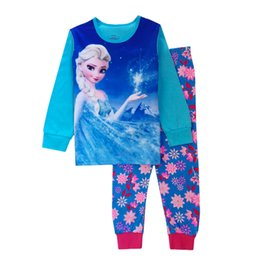 Wholesale Factory cheap price Latest girls frozen clothes elsa anna children pajamas baby girl s sleepwear kids nightsuits housewear