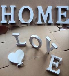 New Arrive Home Decor Decoration Thick Wood Wooden White Letters Alphabet Wedding Birthday 8cmx1 2cm
