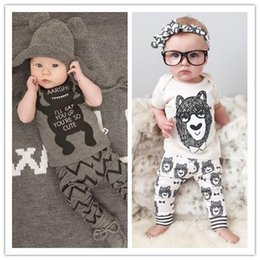Wholesale Retail summer style infant clothes baby clothing sets boy Cotton little monsters short sleeve baby boy clothes