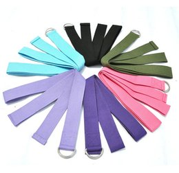 Wholesale New Yoga Belt Stretch Strap D Ring Waist Leg Fitness CM Adjustable Exercises Belts Pull Strap DHL