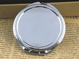 Wholesale Silver floral embossed compact mirror mm Blank Plain Silver Colour For DIY Decoden DROP SHIPPING