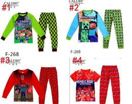 Wholesale 0pcs Hot sale Boys Minecraft Clothing Set Kids Y Cartoon Clothes New