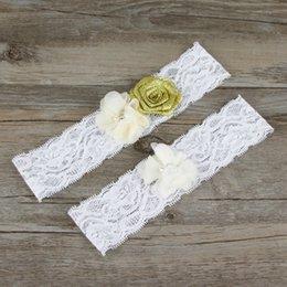 Wholesale 2015 Real Picture Lace Bridal Garters Handmade Flower Wedding Garters Cheap Wedding Leg Garters