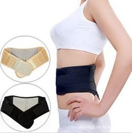 Wholesale Tourmaline Self heating Magnetic Therapy Waist Support Belt Lumbar Back Waist Support Brace Double Banded Adjustable Size