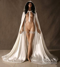 Wholesale Custom Make Fashion Satin Cape Cloak Medieval Renaissance Wedding Bridal Wraps High Quality Cheap