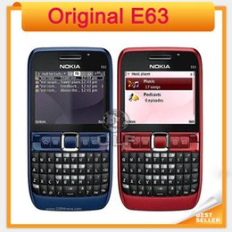 online shopping Original E63 mobile phone Nokia E63 G WIFI MP Unlocked Mobile Phone Support Russian keyboard