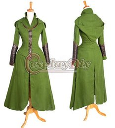 Wholesale Custom made Anime Movie The Hobbit Desolation of Smaug tauriel Costume Cosplay costume dress for adults women