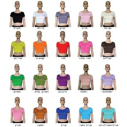 Wholesale 20 color midriffs half body short sleeved T shirt European and American brands the latest fashio shirt
