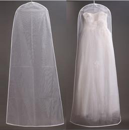 Wholesale Cheap Bridal Wedding Dress Garment Bag New In Stock Wedding Dress Cover Travel Storage Dust Coat cm