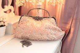 Wholesale Vintage Beaded Bridal Hand Bags Evening Party Bag Wedding Bag Bridesmaid Hand Bag