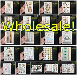 Wholesale over DHL FEDEX ARAMEX Temporary Tattoo And Flash Metallic Jewelry Tattoos Bracelet Tattoos Price