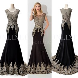 Wholesale Sheer Neck Celebrity Dresses red carpet dresses Real Image Formal Occasion Wedding Prom Evening Dresses Party Gowns Arabic