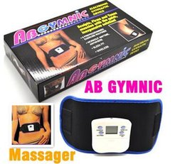 Wholesale Vibrating slim beauty belt massager AB GYMNIC Electronic Health Body Building back pain relief Massage Belt DHL